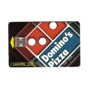 30 Dominos Pizza With Coca Cola Logos On Reverse (Chip Card) USED