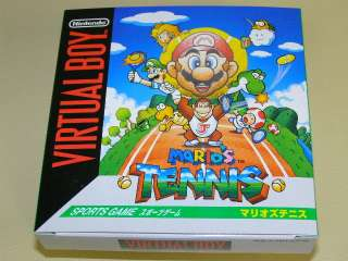 NEW MARIO TENNIS   NINTENDO VIRTUAL BOY SYSTEM
