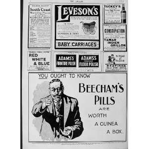 1916 ADVERTISEMENT BEECHAMS PILLS ADAMS POLISH COFFEE