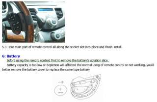 UNIVERSAL Infrared Steering Wheel Stereo Remote Control