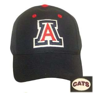 FITTED CAP HAT ARIZONA WILDCATS NAVY BLUE 7 5/8