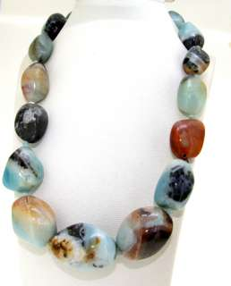 Big Single Strand 30mm  Jasper Gemstone Beads Necklace