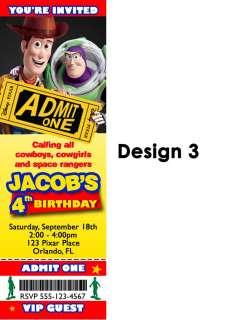 Story Birthday Party Invitation Custom Photo Woody Buzz Lightyear