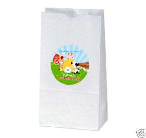 BARNYARD FARM Birthday Party TREAT BAG STICKERS