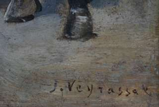 VEYRASSAT (1828 1893) FRENCH BARBIZON ART OIL PAINTING TO £200k