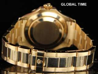Mens Rolex 18K Yellow Gold Yachtmaster 16628 MOP Diamond Sapphire Dial