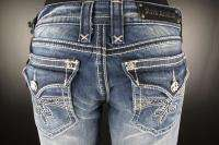 Womens ROCK REVIVAL Boot Cut Jeans SORA B2 with CUTE CRYSTALS
