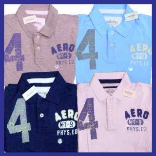 Aeropostale mens solid embellished polo shirt style 1837