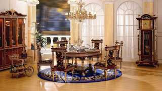 Dining Room Table & Chairs  24kt Gold Plated Italian Fabric