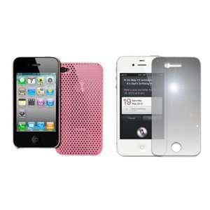 EMPIRE Pink Air Matrix Rubberized Hard Case Cover + Mirror