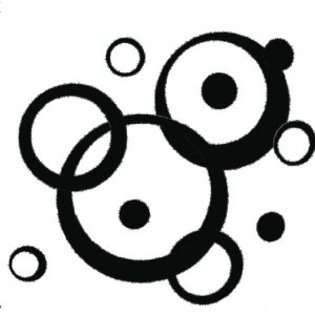 Wall Decor Plus More Black Wall Vinyl Sticker Decal Circles, Bubbles