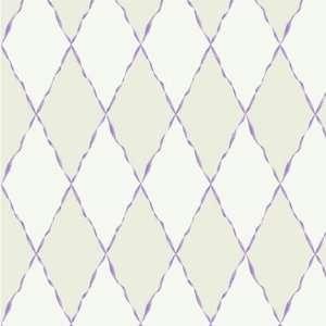 Ribbon/Harlequin Purple Wallpaper in Girl Power II: Home