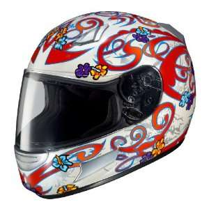 HJC CL SP Lola MC 1 Full Face Motorcycle Helmet White/Red/Silver Extra