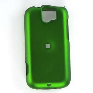 Green Rubberized Snap on Case Cover for HTC MyTouch Slide Electronics