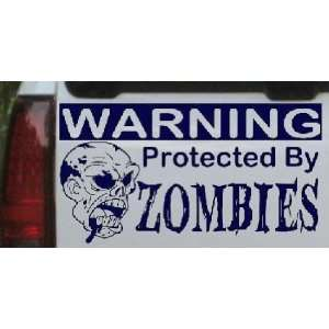 9in    Protected By Zombies Funny Car Window Wall Laptop Decal Sticker