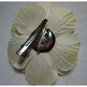 Ivory Camellia Flower Hair Clip and Pin Back Brooch