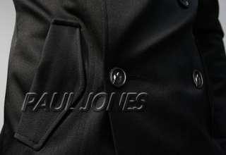 PAUL JONES Men's Slim Fit Fashion Double Breast Trench Coat Jackets