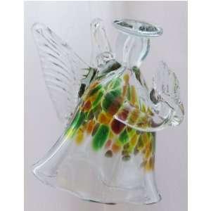 Kitras Art Glass   Hand Blown Glass Hanging Ornament   ANGEL FIGURINE