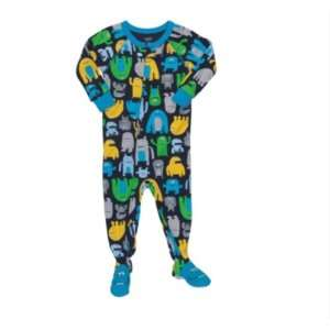 Snug Fit Footed Cotton Sleeper Pajama Happy Aliens (24 Months) Baby