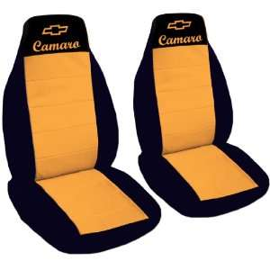 black and orange car seat covers for 2000 Chevrolet Camaro