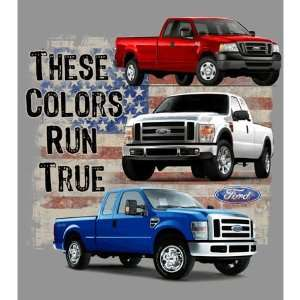 Ford Truck These Colors Run True Gray Mens Tee Shirt M