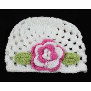 Infant Toddler Girl Baby Handmade Knit Crochet flowers Hat