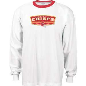 Kansas City Chiefs White Bloc Party Long Sleeve Ringer T Shirt
