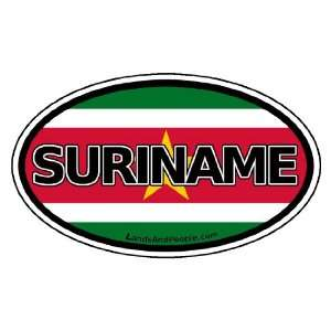 Suriname Flag Car Bumper Sticker Decal Oval Automotive