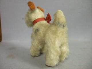 1940 Vintage Antique Miniature Steiff Foxy Fox Terrier Dog w Bell