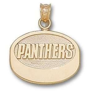 Florida Panthers 10K Gold FLORIDA PANTHERS Puck Pendant