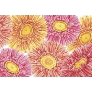 Pink Purple Daisy Flower Indoor Outdoor Rug Mat