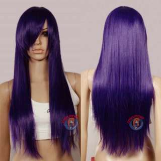 2011 popular fashion styles New Dark Purple Long Wig
