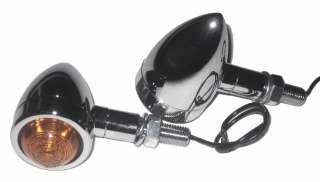 Custom Chrom Mini Bullet Blinker Set für Harley HD Honda Suzuki