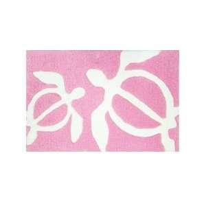 Sea Turtle Area Rug Pink and White Tropical Furniture