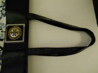 TORY BURCH LARGE TOTE BAG   CANVAS AND LEATHER   SWEET!