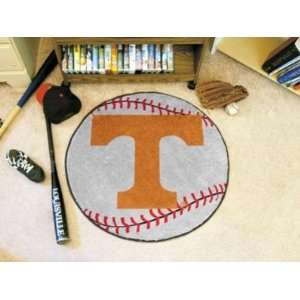 Tennessee UT Vols Volunteers Baseball Shaped Area Rug