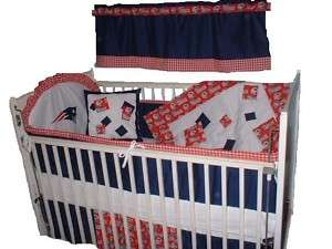 Baby Nursery Crib Bedding Set New England Patriots NFL