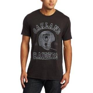 Oakland Raiders Mens Retro Vintage T Shirt (Black, Small)