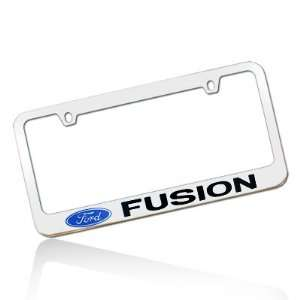 Ford Fusion Chrome Metal License Frame