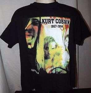 KURT COBAIN 1967 1994 Nirvana Vtg/Pre owned T Shirt(XL)
