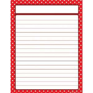 Resources Red Polka Dots Blank Chart, Red (7711): Office Products