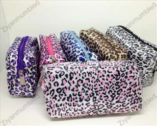 Fashion Cute Leopard Print Coin Case Makeup Pouch Card Bag Purse Zero