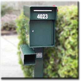 Security Locking Mailbox & Add a Steel Post and accesories. HEAVY DUTY