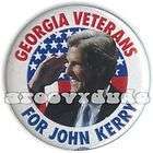 John Kerry President 2004 Georgia Veterans Campaign Pin Button Pinback
