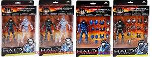 MCFARLENE HALO REACH 4 BOX SET CASE OF 4 ACTION FIGURES NEW 18720