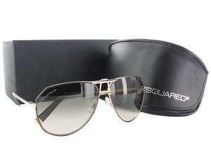 NEW Dsquared DQ0056 50F Gold Brown/ Gradient Sunglasses