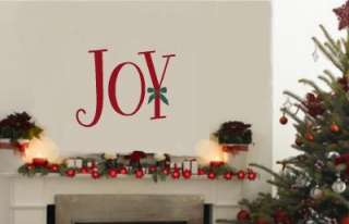 Joy Christmas Wall Lettering Stickers Vinyl Decal Decor
