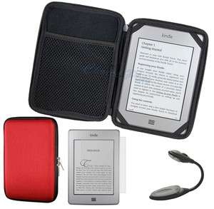 EVA Pouch Case Cover For  Kindle Touch+LCD Film+LED Light