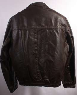 MENS VINTAGE SOFT LEATHER MOTORCYCLE/BIKER JACKET sz 38