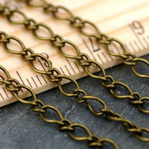 Antique Bronze Chain Metal Vintaged Classic Link Chain Necklace 4mm